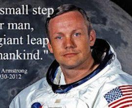 Neil Amstrong và câu nói nổi tiếng của mình.