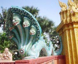 Thần rắn Naga ở Campuchia.