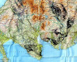 Các bức chân dung độc đáo trên bản đồ