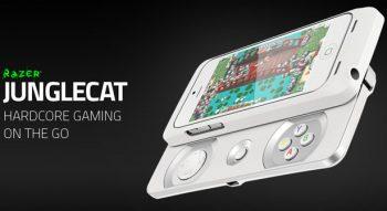 Tay cầm chơi game Junglecat của hãng Razer dành cho điện thoại iPhone 5/5s