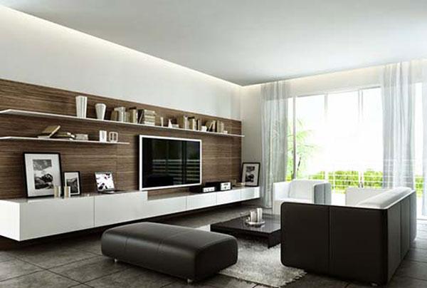 Trang trí nội thất phòng khách theo phong cách hiện đại