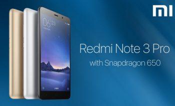 Xiaomi Redmi Note 3 Pro trình làng thị trường smartphone